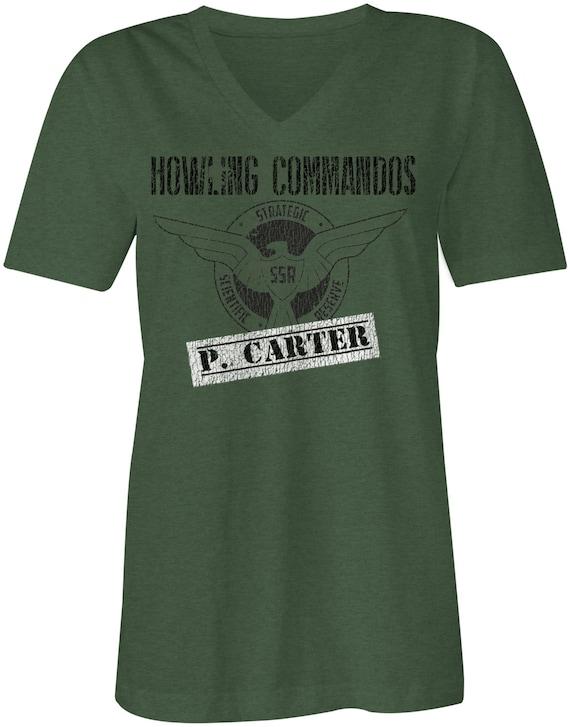SALE Agent Carter Inspired Howling Commando's Women's Swoop Neck Tee