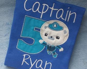 Captain Barnacles Octonaut Birthday Shirt