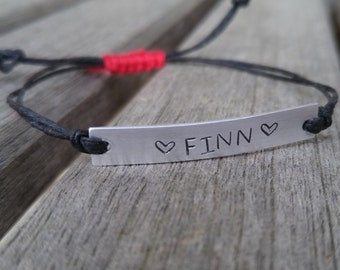 Hand stamped friendship bracelet, personalized bracelet, hand stamped bracelet, hand stamped jewelry, custom hand stamped