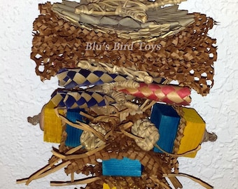 Palm & Wood Bird Toy