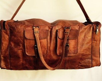 Leather Overnight Bag // Leather Duffel Bag // Leather Bag // Luggage