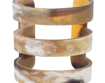 Horn Cuff Bracelet Handmade Jewelry -VT021