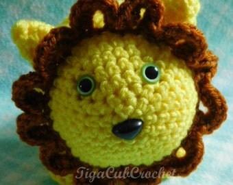 Cute Crochet Medium Lion King of the Jungle Big Cat Amigurumi Plush