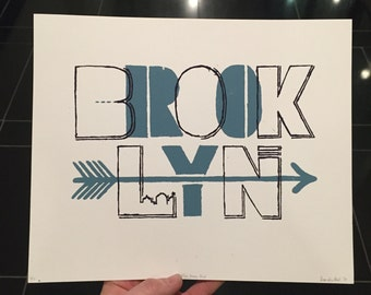 "Limited Edition 2 Color Screen Print ""Brooklyn"""