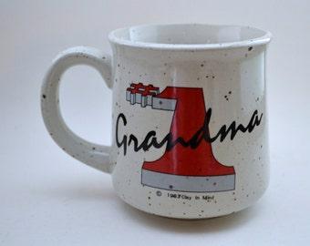 vintage 1983 #1 Grandma ceramic mug