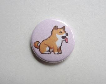 Shiba Inu Dog pinback button badge
