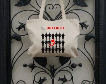Be Different Mermaid Tote Bag