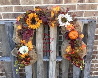 Fall Garland, Thanksgiving Garland, Fall Decoration, Fall Centerpiece, Fall Mantle Garland, Fall Decor, Fall Burlap Garland, Garland