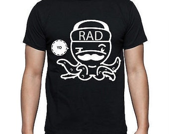 "funny shirt Features print of ""yo rad octopus"""