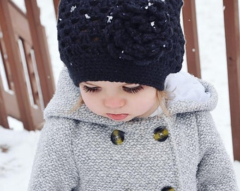 Crocheted Slouch Beanie, Kids Hat, Baby Hat, Beanie, Slouchy Beanie, Winter Hat, Girls Winter Hat, Baby Winter Hat, Baby Beanie