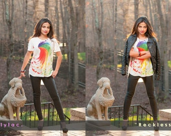 """Top - """"Reckless"""" - Fun casual colorful top"""