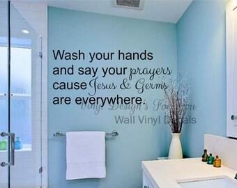 wall vinyl decal bathroom wall decor wall saying apartment decor wall words
