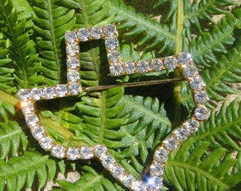 Vintage rhinestone brooch pin Large State of Texas Brooch pin jewelry