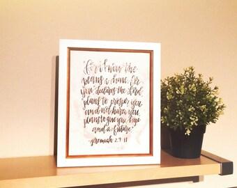 Jeremiah 29:11 8x10