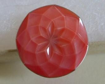 Czech glass button - red - 27mm
