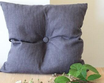 Grey Linen Cushion
