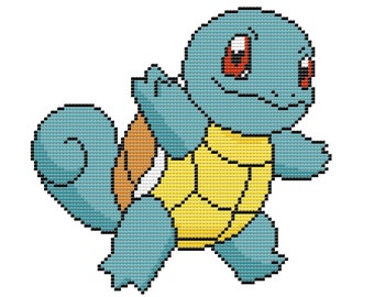 Squirtle Pokémon Cross Stitch Pattern - Instant PDF Download