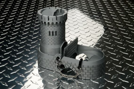 Clever image inside 3d printable dice tower