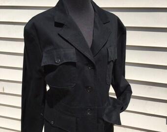 Raulph Lauren Black Military Jacket