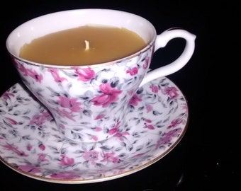 Beeswax Candle in a Teacup