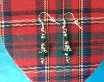 Green gemstone earrings