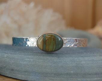 Sterling Silver, Succor Creek Jasper Cuff Bracelet