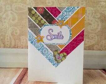 Woven Smile Card