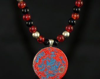 Red Giant - Beaded Necklace
