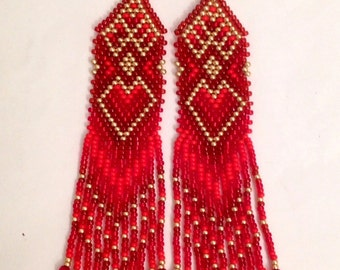 Vintage style native american earrings