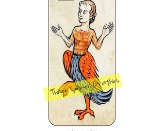 Chicken lady Medieval iPhone 6 printable case design; DIY print at home iPhone accessories for 6 or 6S