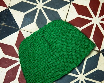 Small green wool hat