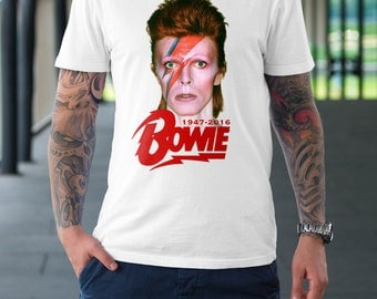 Rest in Peace David Bowie Digital Printed shirt