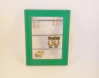 Green Earring Frame