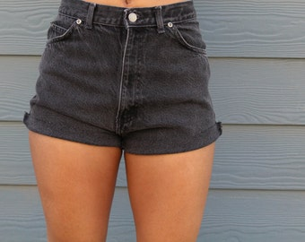 Susie Black High Waist Shorts
