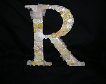 Decorated Free Standing Letter R