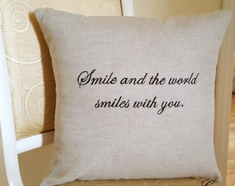 Decorative pillow with words