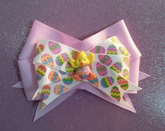 Easter Chick Hair Bow