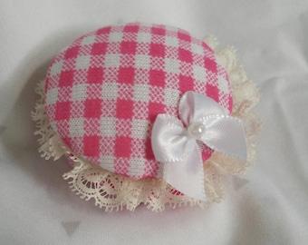 Gingham Fabric Macaron