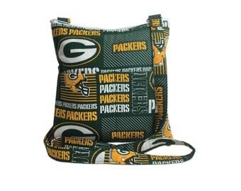 Green Bay Packers Crossbody Bag // Sling Bag // Crossbody Purse // Shoulder Bag // Hipster // NFL