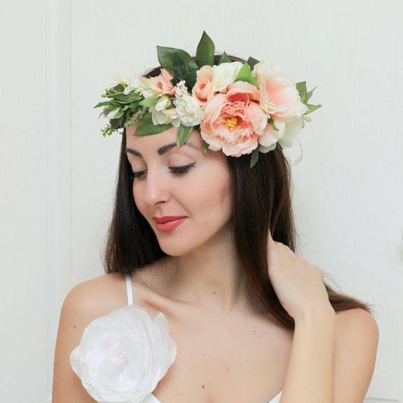 Wedding Flower Crown Suppliers : Bridal floral crown summer flower wedding