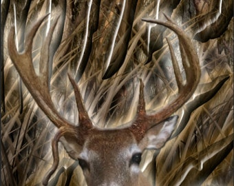 Deer Head Oak Hunting LAMINATED Cornhole Wrap Bag Toss Decal Baggo Skin Sticker Wraps