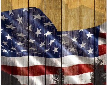 American Flag Mountains Cornhole Wrap Bag Toss Decal Baggo Skin Sticker Wraps