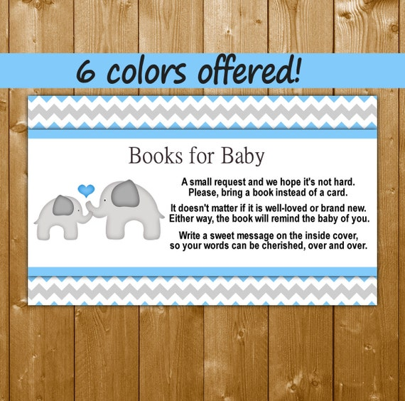 elephant baby shower books for baby blue baby shower invitation