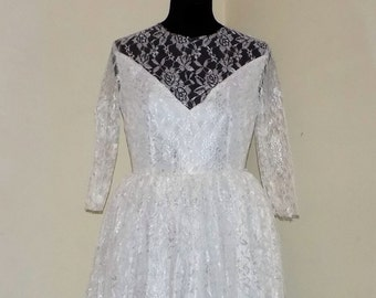 Lace wedding dress, wedding dress with sleeves, wedding dress, elegant wedding dress lace Valentine