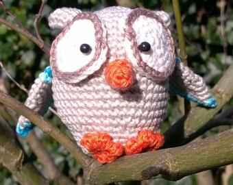Mini-owl, crochet (7 cm, amigurumi)