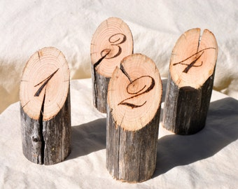 12 Wedding Table Numbers, Wood Table numbers for wedding reception, Rustic Wood Table Numbers, Restaurant Table Numbers, Cafe Table Numbers