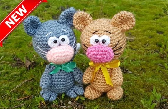 Amigurumi Cat Toys : Crochet cat toy Plush cats Amigurumi stuffed animal cat