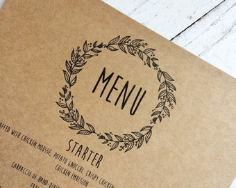 Rustic wedding menu cards, rustic wedding, rustic wedding stationery, personalised menu cards