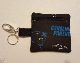Panthers Zippered Coin Pouch