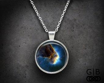 Blue Space Necklace Cloud Space Necklace - Blue Space Jewelry Necklace Space Cloud Pendant Jewelry - Space Cloud Necklace Blue Jewelry